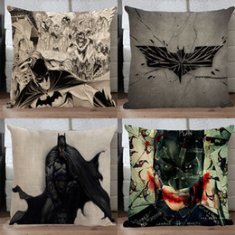 Batman pillow cover, creative superhero Justice League batman comic cartoon bat throw pillow case pillowcase wholesale