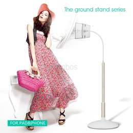 Wholesale For Ipad Cell Phone Floor Stand Holder Tall Stand cm Aluminum Light Weight with Swing Arm Adjustable Height Stable Tablet Stand