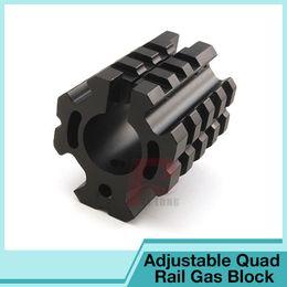 Wholesale Tactical Airsoft UTG PRO Low profile Quad rail Gas Block for quot Barrel HT1