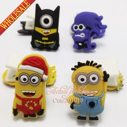 Wholesale Novelty New Hot Despicable Me Minions Multi function peper clips Cartoon Note Book Clips Book Clips Memo Notes Holder School Supplies