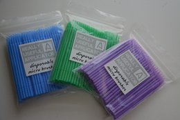 Wholesale Disposable Eyelash eye lash Micro Brush Applicators for Eyelash Extension Removal mm mm mm