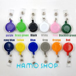 Wholesale Plastic Retractable Pull Chain Reel ID Card Badge Holder Reel Recoil Belt Clip