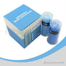 Wholesale easyinsmile Disposable Micro Applicator Brush Bendable Regular Blue Dia MM for dentist