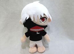 Wholesale hot sale styles Anime Tokyo Ghoul Kaneki Ken Plush Toys Soft Stuffed Doll black white quot cm