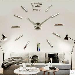 Wholesale DHL fashion D big size wall clock mirror sticker DIY wall clocks home decoration wall clock meetting room wall clock D005