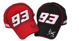 Wholesale 2014 Black red embroideried big moto gp Mark Marquis motorcycle rider caps hat sports baseball cap cotton adjustable trucker cap