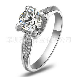 Free Shipping Fine 1 ct , PT950 platinum jewelry SONA diamond women ring wedding ring diamond ring women rings