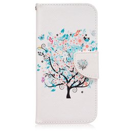 High Quality Tree Flip Leather Case With Stand Wallet Magnet Case For Samsung Galaxy S7 S7edge iPhone 6s 7 inside TPU case