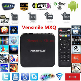 Wholesale Best Android TV Box MXQ Amlogic S805 Smart Android GB RAM GB ROM Pixel High Definition Android TV Boxes