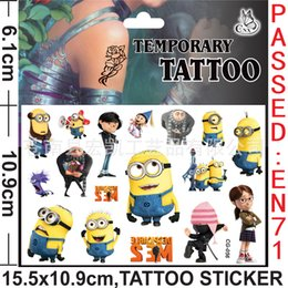 Wholesale Despicable Me tattoo stickers Cartoon Tattoo Stickers Temporary Tattoos Stickers Body complete tattoo kit Women Men Baby Children s Gift W