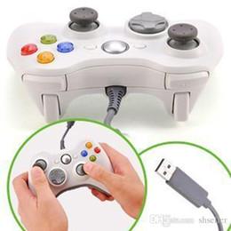 Blanco atado con alambre USB del regulador del juego de Gamepad Joypad Joystick para Xbox 360 Slim de accesorios de ordenador PC para Windows 7 envío libre A5 desde blanco xbox palanca de mando fabricantes
