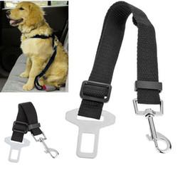 Wholesale Adjustable Dog Cat Pet Car Safety Seat Belt Collars Black