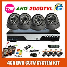 Wholesale New Best Channel Home Security P AHD TVL Video Surveillance Camera Mini Small Dome CH MP CCTV System Kit