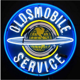 Wholesale 2016 Hot Details about Oldsmobile Service Neon Sign Car Vehicle Store Company Repair Handcrafted Custom Real Glass Tube Neon Signs quot X24 quot