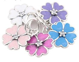 Sterling Silver Charms 925 ALE Floral Enameled Dangled European Beads for Pandora Bracelets DIY Beads Free Shipping