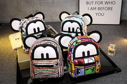 Wholesale New Children Backpacks Cutest Mickey Backpack Schoolbag Child Backpack Fashion Leisure Schoolbag colors Best Gift