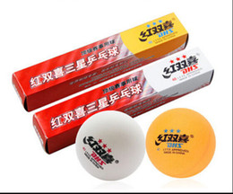 Hot selling! New DHS Approved Yellow 40mm 3 Stars Table Tennis Balls Traning Match Game Durable PingPong Balls Free shipping