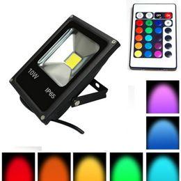 10pcs Ultra Thin!Led Reflector 10W 20W 30W 50W RGB Led Flood light Waterproof IP65 Floodlight AC85-265V Outdoor lights