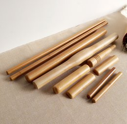 Wholesale 10pcs set Bamboo Body Massager Pole Massage Stick Water proof Wood Craft