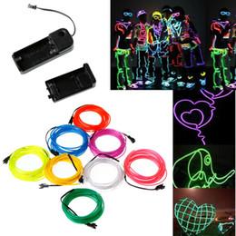 Citron / Rouge / Jaune / Vert / Blanc / Bleu / Violet / Rose 3M Flexible néon lumière EL câble de câble avec contrôleur 8 couleurs à partir de couleurs des fils au néon fournisseurs