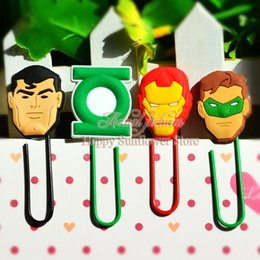 Wholesale Bookends Avengers boys love Paperclip Bookmarks for Book Page Holder School Office Party Supplies Stationery kid party favors