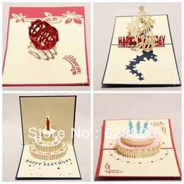Wholesale-Free shippin!3D greeting card,Creative gift,Party invitations,Birthday Love Topic,Exquisite paper sculpture,Wholesale