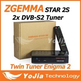 Wholesale 10pcs Original Zgemma Star S Digital Satellite Receiver with Two DVB S2 Tuner Enigma2 Linux System Zgemma star S