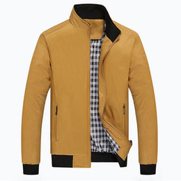 Fall-2016 Men Checker Outwear Overcoat Coat Parka Zip Up Trench Coats Jackets Casual Fashion Jacket New Arrival