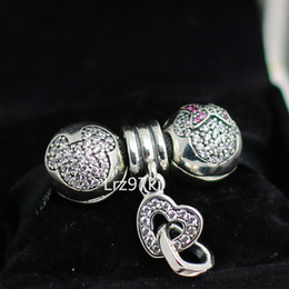 Authentic 925 Sterling Silver Charms and Murano Glass Bead Set with Charm Box Fits European Pandora Jewelry Charm Bracelets CB032