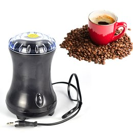Wholesale 100W Black Electric Coffee Spice Grinder Maker Beans Nuts Coffee Mill V V Stainless Steel Blades Electric Coffee Maker A3