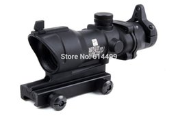 Tactical Trijicon ACOG 4x32 Crosshair Scope with Iron Sights 20mm weaver picatinny rail mounts For Hunting Riflescopes