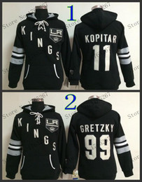 2016, women los angeles kings jersey hoody kopitar jerseys #99 wayne gretzky #11 Embroidery warm hoodie
