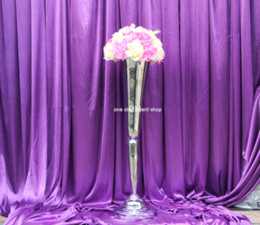 China tall mental centerpiece vases and wedding centerpiece and flower stand