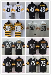 Wholesale Pittsburgh football Steelers rugdy Jerseys POLAMALU SHAZIER LAMBERT DECASTRO GREENE freeshipping