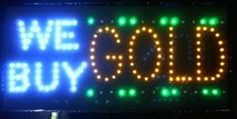 Hot sale Ultra Bright LED Neon Light Animated LED We buy Gold Sign Billboard led sign indoor