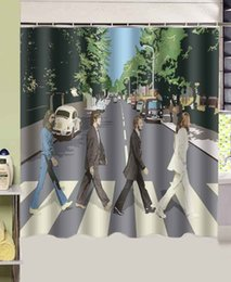 Wholesale ECO friendly curtains polyester curtains The Beatles Abbey Road top quality x180cm waterproof shower curtain