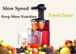 Wholesale DHL UPS fast shipping New Stainless Steel Automatic Slow Juicer Fruit Juice Extractor Squeezer of Kitchen Appliances