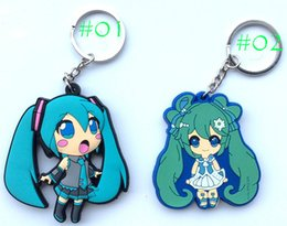 Wholesale New Japanese Anime Cartoon Keychain Action figures toy Tokyo Ghoul Hatsune Miku Sword Art Online Attack on Titan Key Charms