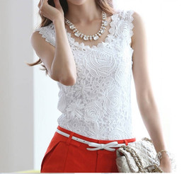 2015 new Summer blouse Fashion Top Lace Casual Sleeveless Plus Size Shirts For Women Brand Quality Black White Halter Top