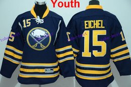 Wholesale 2015 New Draft Jack Eichel Buffalo Sabres YOUTH Jersey Navy Blue Home Stitched Premier KIDS Ice Hockey Jerseys Hot Sale