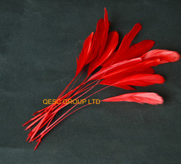 14-19CM RED cocktail feather for sinamay fascinator hat.