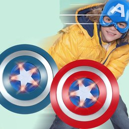 Wholesale The Avengers America Captain CM luminous Sound Shield Mask imitate Cosplay property weapon Toy kids costume party child kids gift