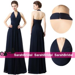 Wholesale 2016 Boho Chic Long Navy Blue Bridesmaid Dresses with Open Back Corset for Sale Garden Backyard Cheap Bridal Party Gowns Maid of Honor Wear