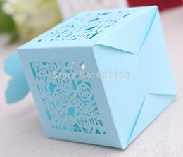 Wholesale-Paper Bowknot Laser Cut Hollow Candy Boxes For Wedding Gifts Favor Paper Box Decorations, 100pcs LOT