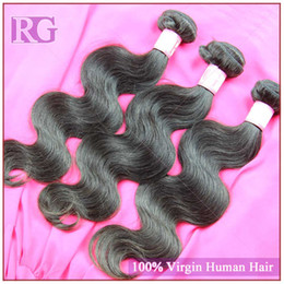 Peruvian unprocessed 5A virgin hair extension body wave 3pcs lot virgin Peruvian hair color 1b weft wholesale price weaving free shipping