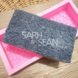 M0356 oversized rectangular rose silicone soap mold fondant cake mold chocolate mold