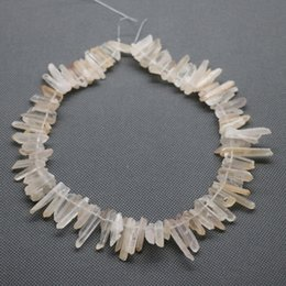 76pc 1Strand Raw Yellow Crystal Quartz Rock Pendant, Natural Gemstone Freeform Spikes Points Drilled Briolettes, 15.5 Inch Women Necklace