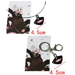 Wholesale Tokyo Ghoul Pendant Keychain Necklace Anime Paragraph Gold Wood Research Periphery Alloy