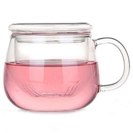 Wholesale 2016 New Arrival Heat Resisting Clear Glass Pot Glass Flower Tea Pot With Lid and Handle Glass Teapot