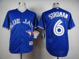 Toronto Blue Jays Jerseys #6 Marcus Stroman Blue White Grey Jerseys Wholesale Cheap Baseball Jerseys Authentic Stittched Jersey Shirt